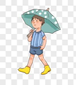在雨天走路的人图片