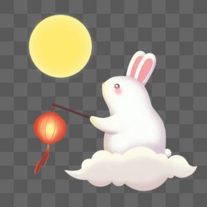 月光下的玉兔图片