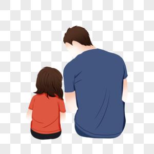 父女亲情图片_父亲节父女背影高清图片下载-正版图片500430968-摄图网