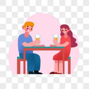 约会男女图片