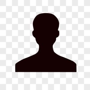 男性头像剪影图片