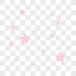 风吹散的樱花漂浮素材免费下载图片