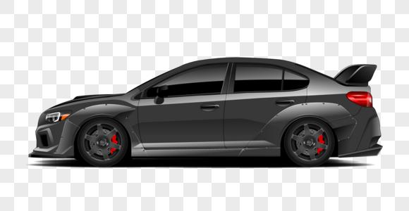 四门跑车模型图片