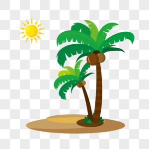 椰树沙滩夏天热带图片