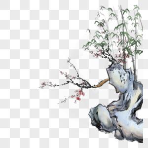 竹石图图片