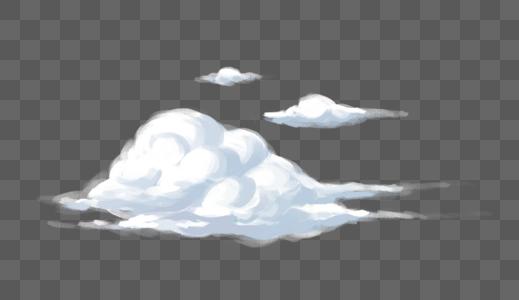 创意手绘白云设计图片