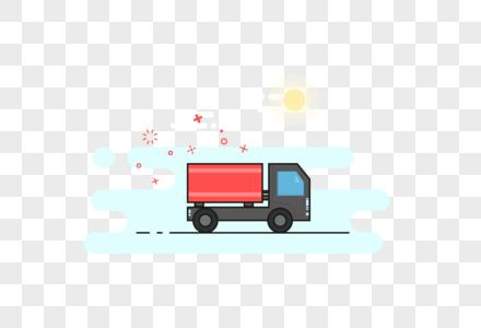 货车元素图片