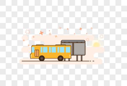 公交车元素图片