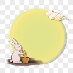 捣药的玉兔边框图片