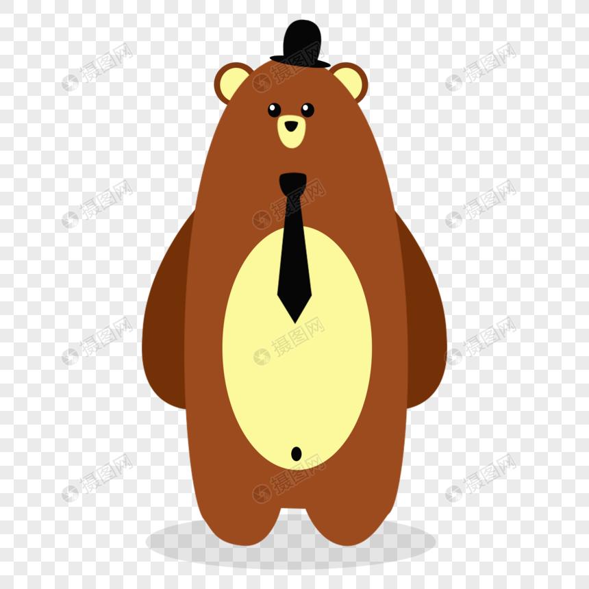 戴领带的熊爸爸图片