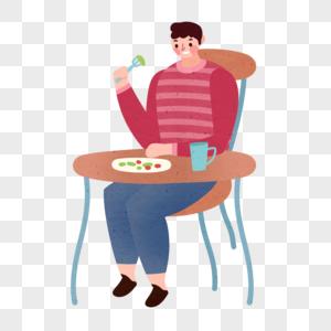 吃饭人物图片