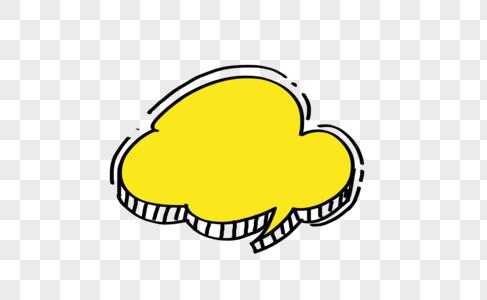 创意黄色云朵对话框设计图片