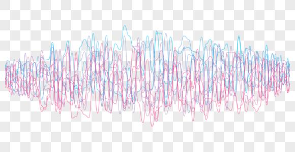 彩色震荡声波图片
