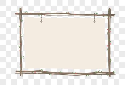 创意卡通树木藤蔓边框图片