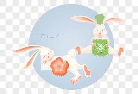 玉兔月饼图片