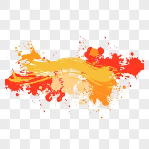 彩色颜料元素图片