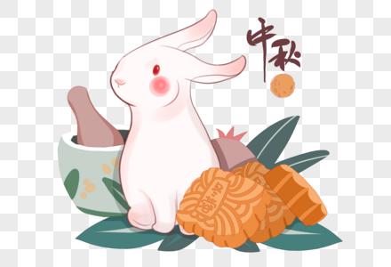 中秋月饼 玉兔图片
