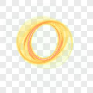 金黄色旋风旋转效果元素图片