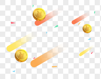 红包雨金币雨彩带海报横幅素材图片
