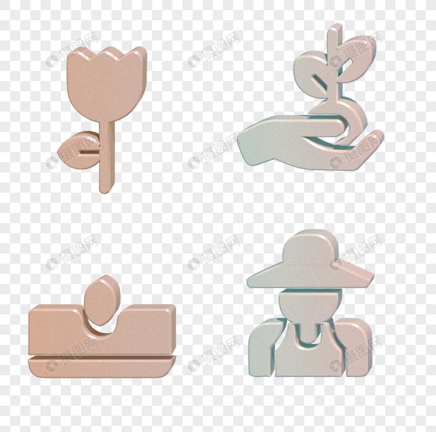 C4D农夫草土图标图片