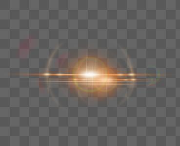 橙色光晕效果元素图片