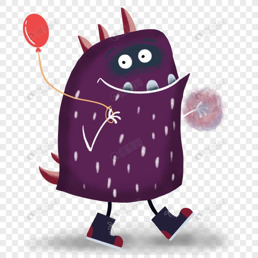 拿气球的小怪兽图片