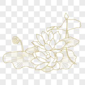 荷叶花纹图片