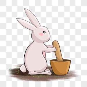 捣药玉兔图片