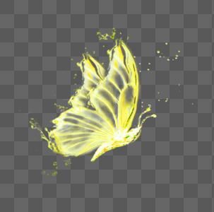 金色蝴蝶水花效果图片