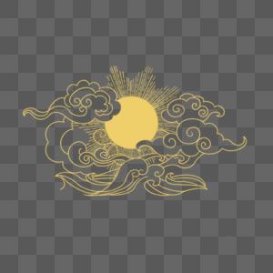 云月纹样图片