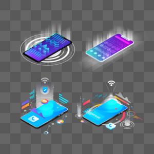 2.5D智能手机图片