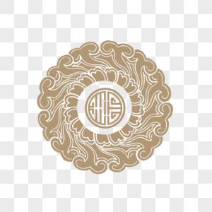 中式雕花圆形花纹图片