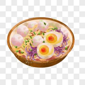 鱼丸鱿鱼鸡蛋面图片