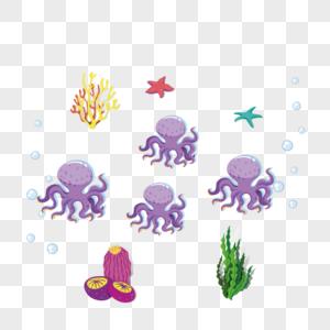 海底章鱼图片