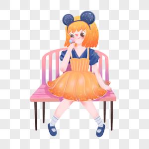 吃糖果的女孩图片