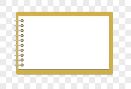 笔记本形边框图片