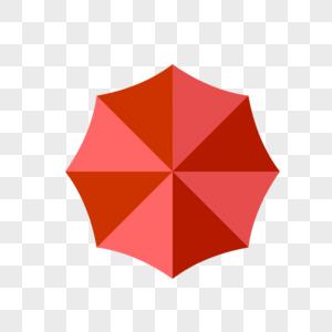 红色的雨伞图片
