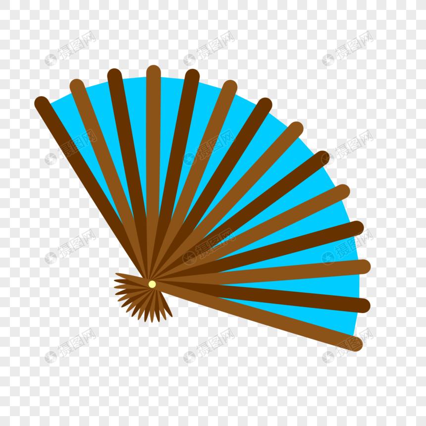 蓝色折扇图片