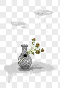 云雨和花瓶图片