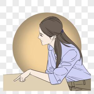 耐心教导学生的女老师图片