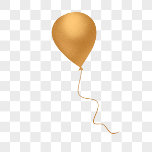 金黄色气球图片