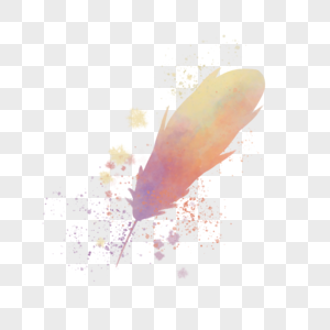 小清新水彩羽毛图片