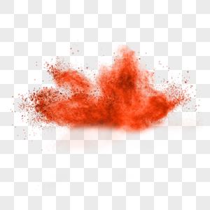 红色粉末状烟雾效果图片