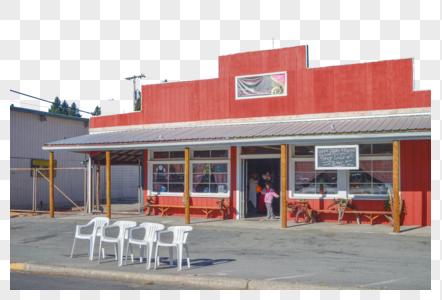 美国西部小镇餐厅图片