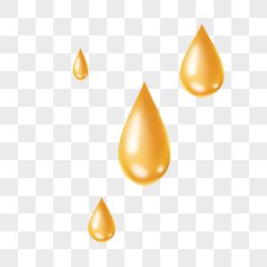 金黄色油滴水滴图片