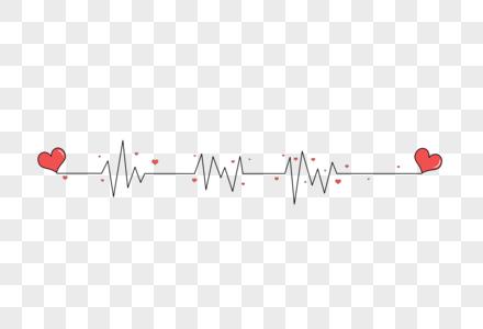 爱心心率图分割线图片