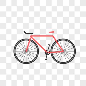 卡通红色自行车图片