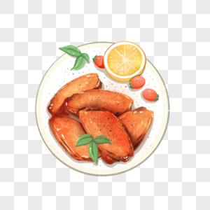 美食柠檬蜜汁鸡翅中图片