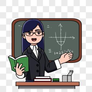 数学老师上课图片