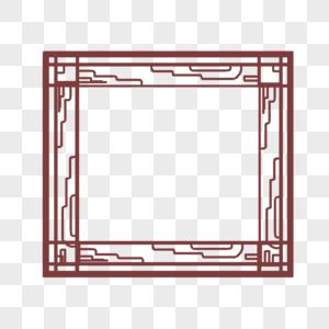 暗红色方形边框图片